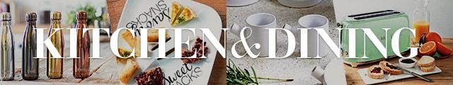 食器やテーブルリネン、タンブラーや調理器具など、キッチン用品が勢ぞろい!
